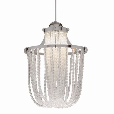 Crystal Cascade Quick Connect 1 Light Pendant by WAC Lighting
