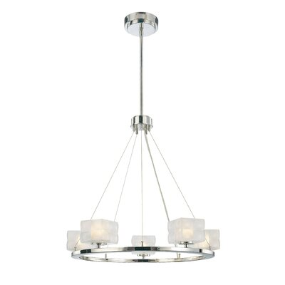 Squared 5 Light Chandelier Product Photo
