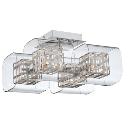 Jewel Box 4 Light Semi Flush Mount Product Photo