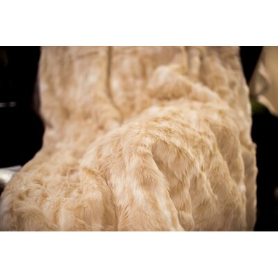Posh Pelts Cougar Throw Blanket with Silky Soft Faux Fur Lining