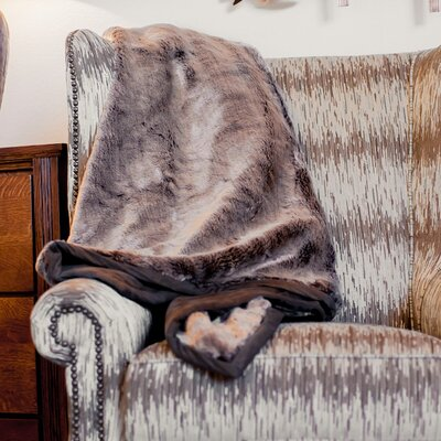 Russet Chinchilla Throw Blanket by Posh Pelts