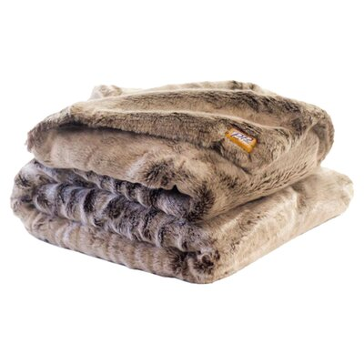 Chinchilla Double Sided Throw Blanket by Posh Pelts