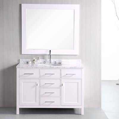 "London 48"" Single Bathroom Vanity Set with Mirror Product Photo"