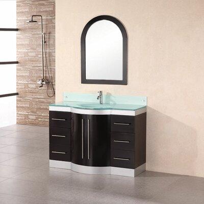 "Design Element Jade 48"" Single Bathroom Vanity Set with Mirror"