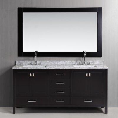 design element london 72 double bathroom vanity set with mirror reviews wayfair