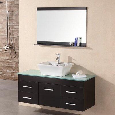 "Design Element Madrid 48"" Single Bathroom Vanity Set with Mirror"