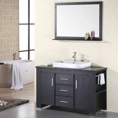 "Design Element Washington 48"" Single Bathroom Vanity Set with Mirror"
