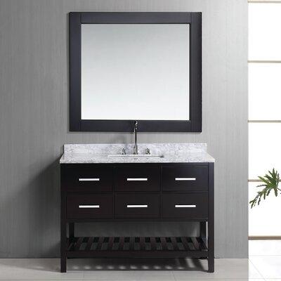 "London 48"" Single Bathroom Vanity Set with Mirror Product Photo"