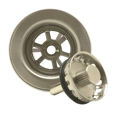 Bar Sink Strainer with Spring Loaded Center Pin by Mountain Plumbing