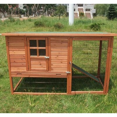 Aosom LLC Pawhut Hutch Chicken Coop with Nesting Box