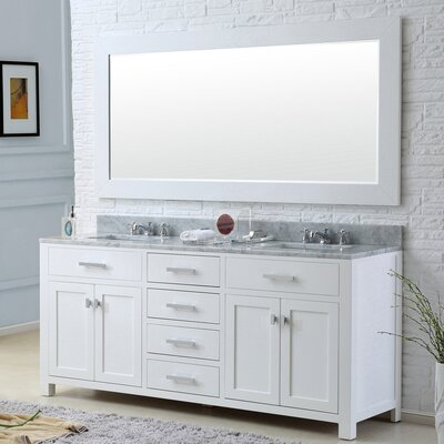 "Madison 72"" Double Bathroom Vanity Set with Mirror Product Photo"