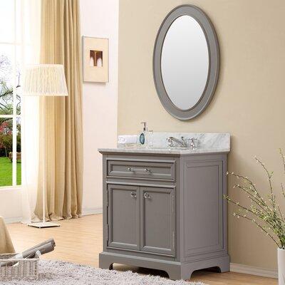 Derby 30 single sink bathroom vanity set with mirror for Bathroom design derby