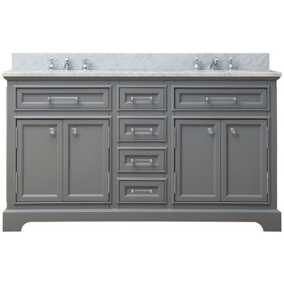 "Derby 60"" Double Sink Bathroom Vanity Product Photo"