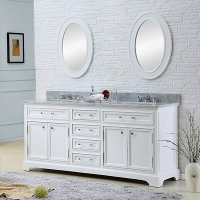 "Derby 60"" Double Sink Bathroom Vanity Set with Mirror Product Photo"