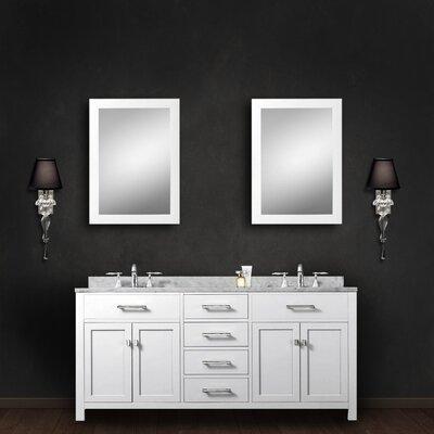 "Madison 60"" Double Bathroom Vanity Set with Mirror Product Photo"