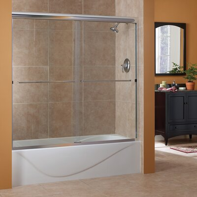 "Cove 60"" x 60"" Frameless Sliding Tub Door Product Photo"
