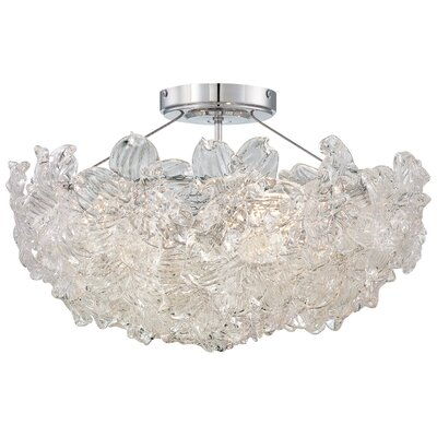 Bella Fiori 4 Light Semi-Flush Mount Product Photo