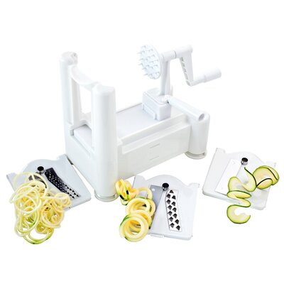 Paderno World Cuisine Spiral 4 Piece Vegetable Slicer Set