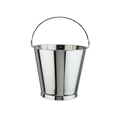 Paderno World Cuisine Graduated Stainless Steel Bucket with Optional Lid