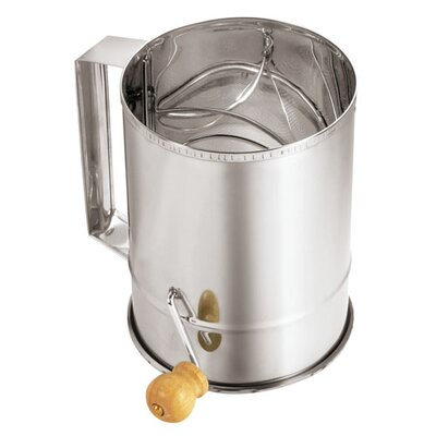 Stainless Steel Sifter with Crank Handle by Paderno World Cuisine