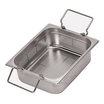 20.88 x 12.75 Inch Stainless-Steel Perforated Hotel Pan by Paderno World Cuisine