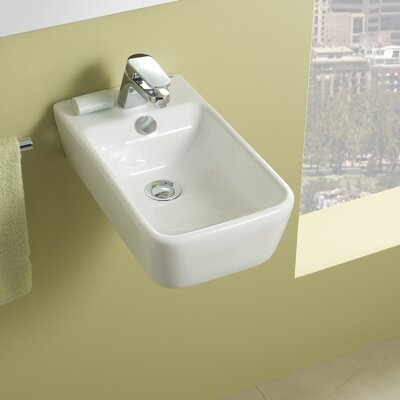 Bissonnet emma small ceramic bathroom sink reviews wayfair for White ceramic bathroom bin