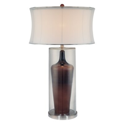 """Minka Ambience 33.25"""" H Table Lamp with Oval Shade"""