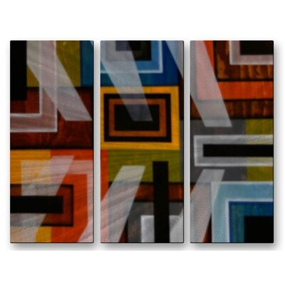 'Transparencies' by Aimee Dieterle 3 Piece Graphic Art Plaque Set by All My Walls