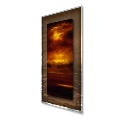 All My Walls 'Cascade V' by Keith Burnett Original Painting on Metal Plaque