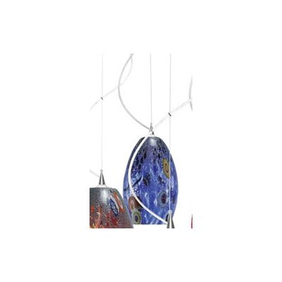 Monty Mouth Blown Murano 1 Light Pendant by LBL Lighting