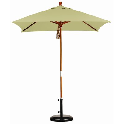 6' x 6' Wood Market Umbrella by California Umbrella