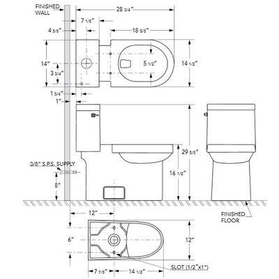 Danze® Ziga Zaga High Efficiency 1.28 GPF Elongated 1 Piece Toilet