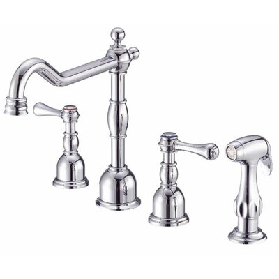 Opulence Double Handle Deck Mount Kitchen Faucet with Spray Product Photo