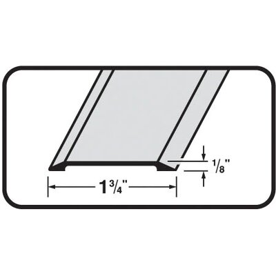 M-d Products 0.13'' x 1.75'' x 36'' Threshold in Satin Nickel
