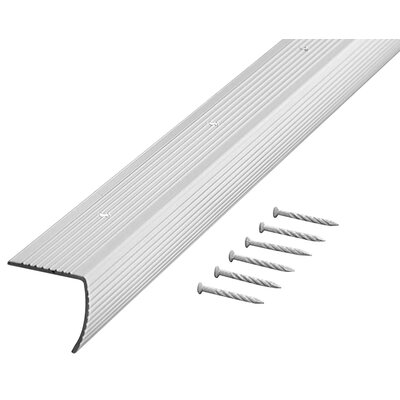"M-d Products 1.13"" x 36'' Stair Nose in Silver"