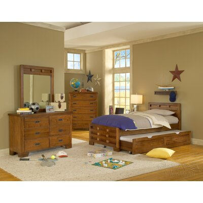 American Woodcrafters Heartland Captains Bed with Optional Trundle