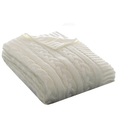 Cable Knit Throw by Eddie Bauer