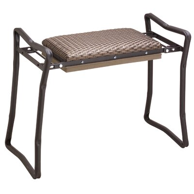 Flexrake Steel Wicker Classic Garden Kneeler and Bench