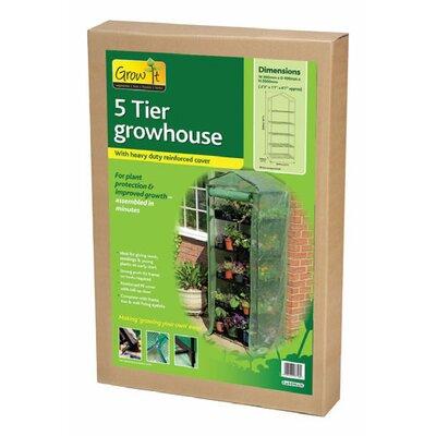 World Source Partners Grow 2.5 Ft. W x 1.5 Ft. D PVC Growing Rack Greenhouse