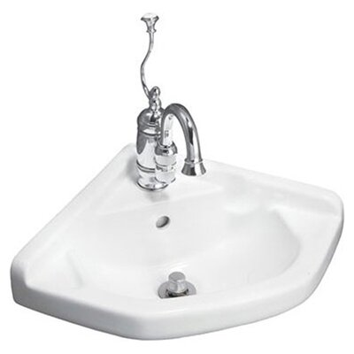 English Turn Wall Mount Corner Bathroom Sink Product Photo