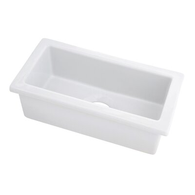 "19"" x 9.63"" Fireclay Undermount Bar Sink Product Photo"