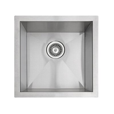 """17.5"""" x 17.5"""" Square Bar Sink Product Photo"""
