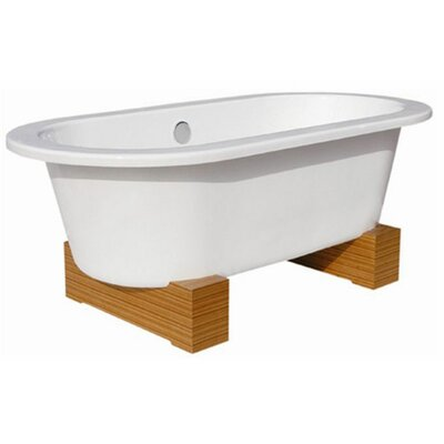 "Belle Foret 68"" x 34"" Contemporary Cast Iron Soaking Bathtub"