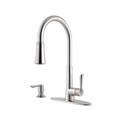 Pfister Mystique Single Handle Deck Mounted Kitchen Faucet with Pull Out Spray
