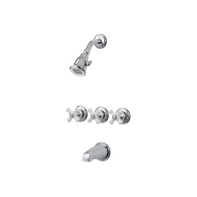Pfister Tub & Shower Trim with Porcelain Cross Handles Product Photo