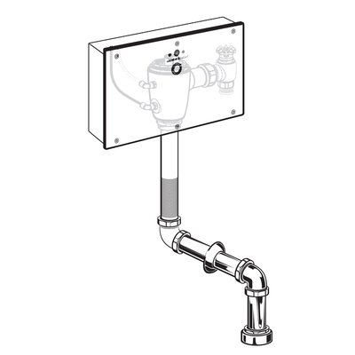 American Standard Concealed Wrist Blade Flush Valve with Wall Box