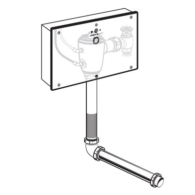 American Standard Concealed 1.6 GPF DC Wrist Blade Flush Valve with Back Spud