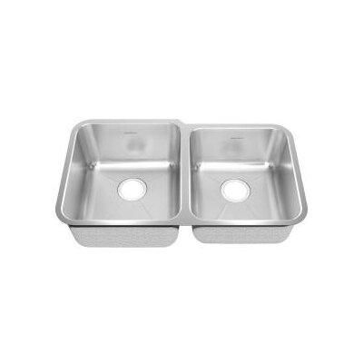 "American Standard 31.88"" x 18.75"" Undermount Double Combination Bowl Kitchen Sink"