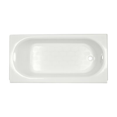 "American Standard Princeton 60"" x 34"" Above-Floor Soaking Bathtub with Luxury Ledge and Integral Overflow"