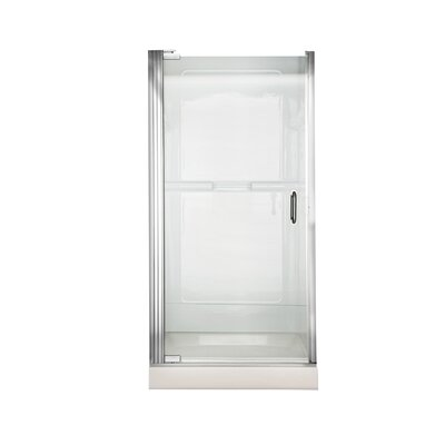 "Euro 66"" x 23.7"" Pivot Frameless Shower Door Product Photo"